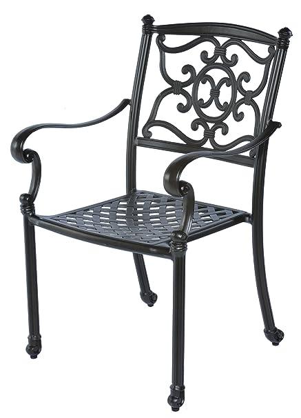 Amazon Com Meadow Decor 2622 45 Kingston Patio Dining Chair Black