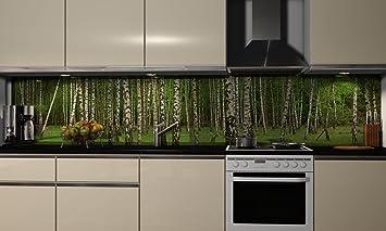 Küchenrückwand-Folie Wildnis Klebefolie Spritzschutz Küche ...