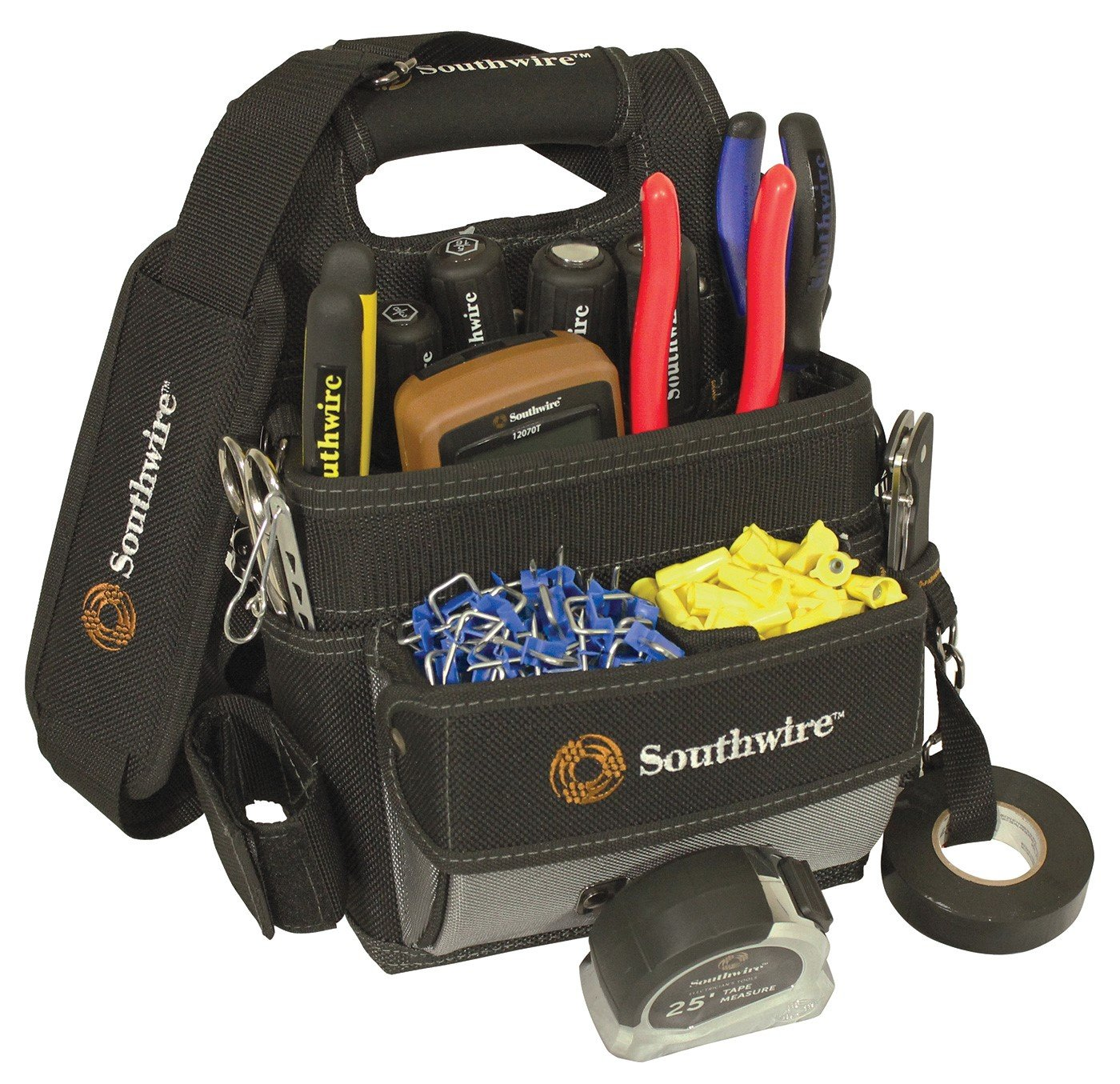 Southwire Tools & Equipment BAGESP Electrician\'s Shoulder Pouch Tool ...