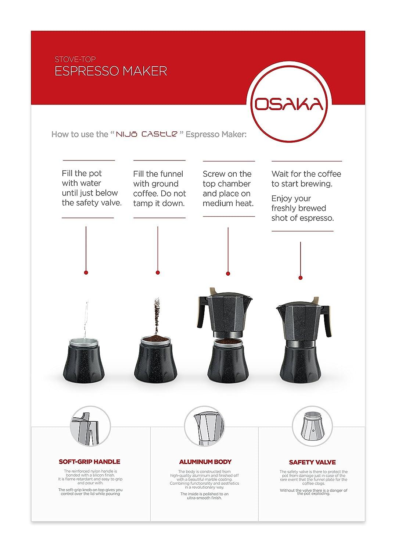 Amazon Osaka Stovetop Espresso Maker