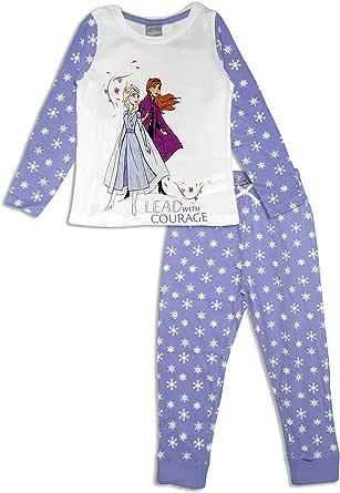 Disney Frozen Girls - Pijama de manga larga de algodón