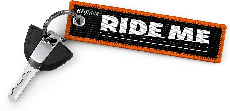 Turn Me On, Ride Me UTV KEYTAILS Keychains Scooter ATV Premium Quality Key Tag for Motorcycle