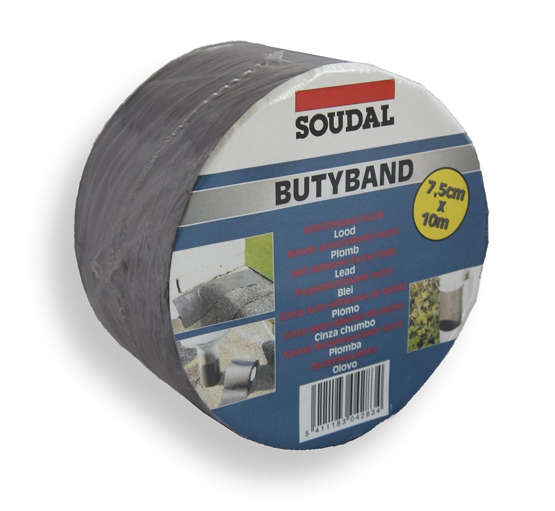 Autoadhesivo altereglow - cinta Butyband altereglow 10 m x 75 mm Soudal