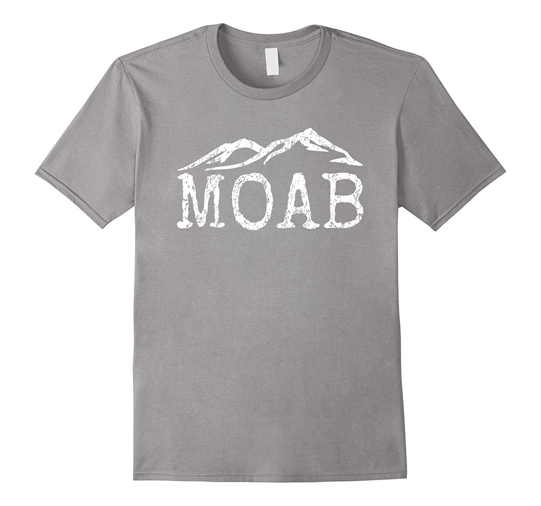 Vintage Moab Utah Distressed Trendy Mountain Home T-shirt-CD
