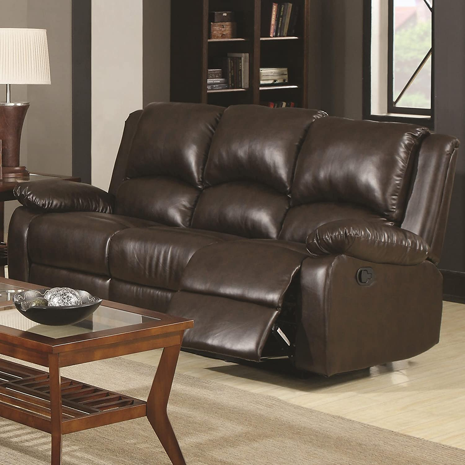 Amazon.com Coaster Home Furnishings 600971 Casual Motion Sofa Brown Kitchen u0026 Dining & Amazon.com: Coaster Home Furnishings 600971 Casual Motion Sofa ... islam-shia.org
