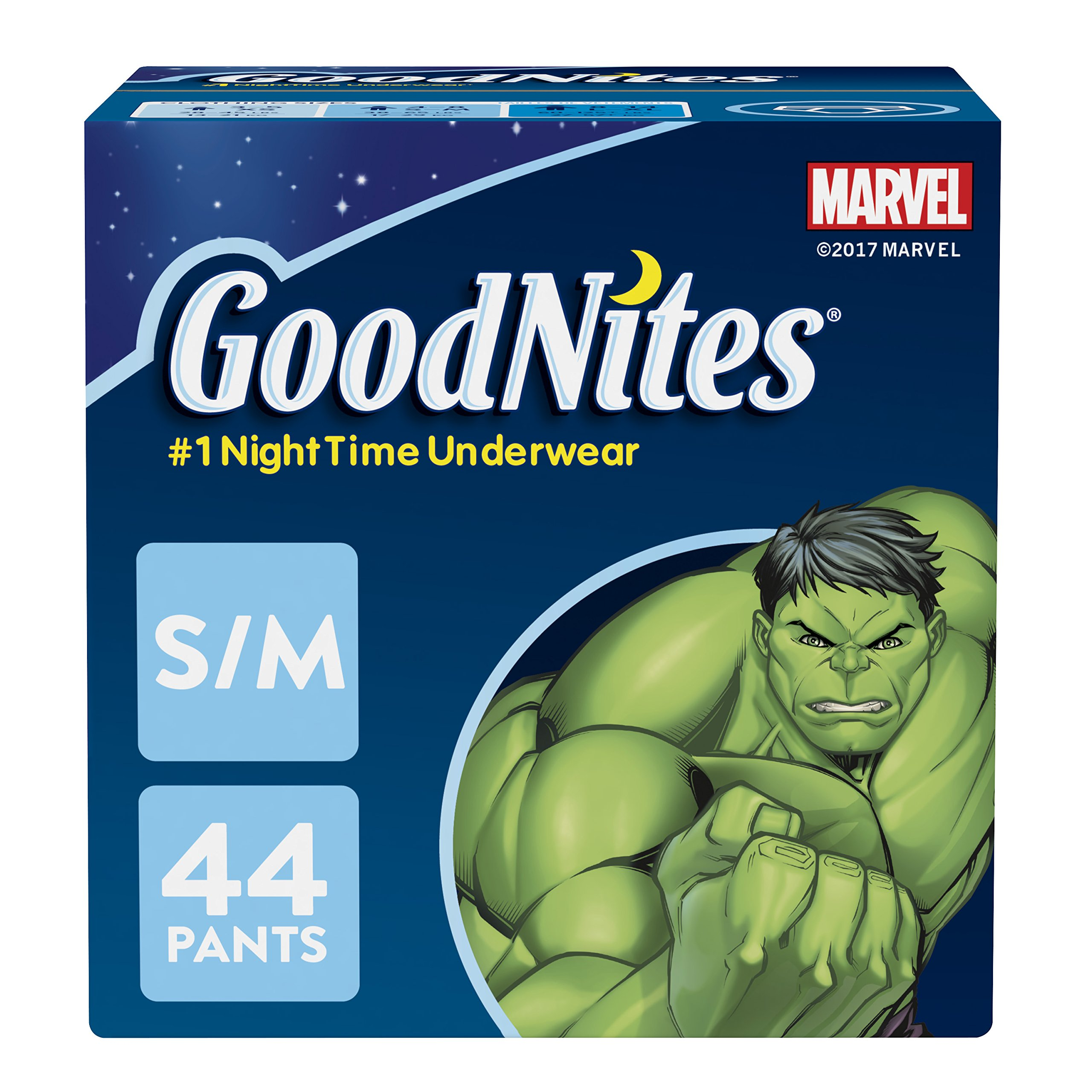 GoodNites Bedtime Bedwetting Underwear for Boys, S-M (38-65 lb), 44 Ct. (Packaging May Vary)