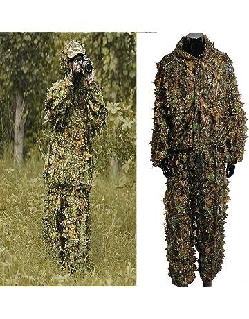 Ghillie Suit 3D, OUTERDO Traje de Camuflaje Para Caza Woodland Ligero Escondido