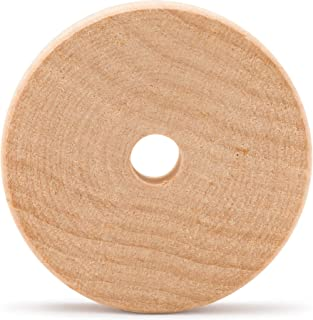 product image for Wood Toy Wheels 2 Inch Diameter, 3/8 Inch Hole, Pack of 24 Unfinished Wooden Slab Wheels for Crafts and DIY Toy Cars, by Woodpeckers (5/8 Thick)