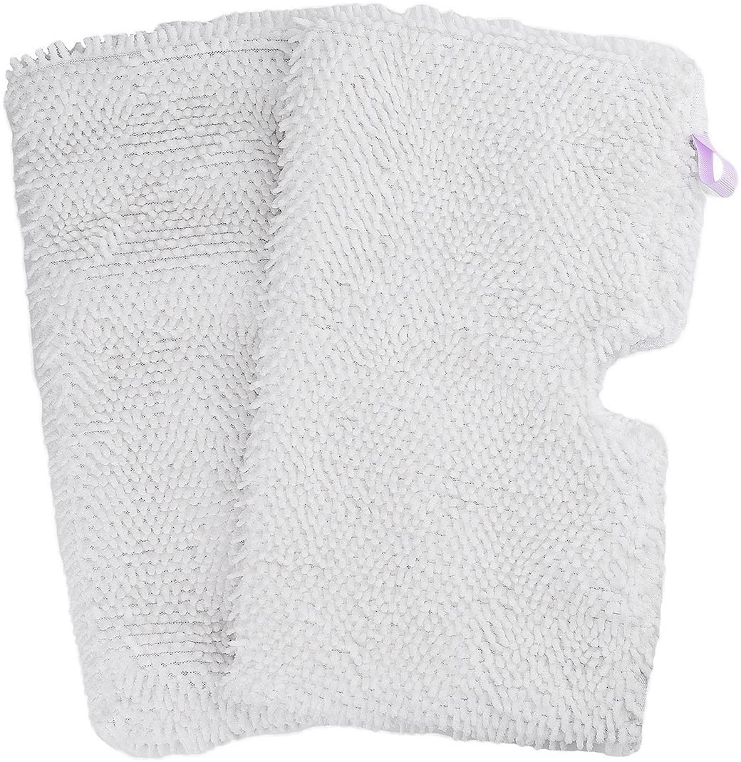Flammi 2 Pack Replacement Washable Microfiber Mop Pads Cleaning Pads for Shark Steam Pocket Mops S3500 Series S3501 S3601 S3550 S3901 S3801 SE450 S3801CO S3601D (White)