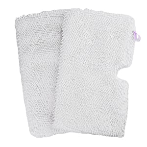 Flammi 2 Pack Replacement Microfiber Steam Mop Cleaning Pads Fits Shark Steam Pocket Mops S3500 Series S3501 S3601 S3550 S3901 S3801 SE450 S3801CO S3601D (White)