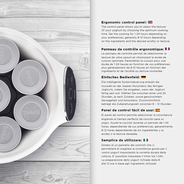 MX kingdom Fabricante de Yogur Inteligente con 8 frascos de ...
