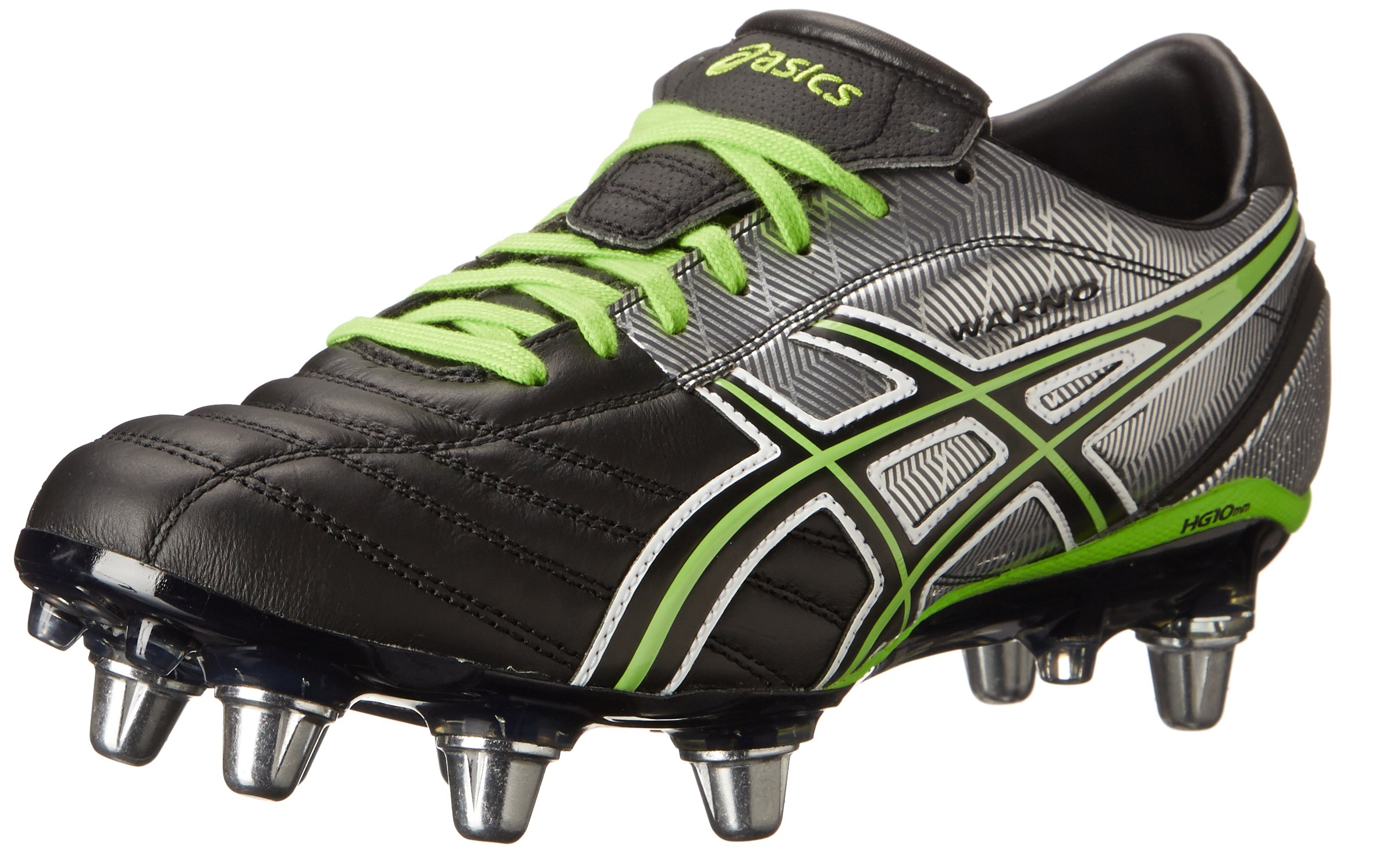 ASICS Men's Lethal Warno Field Shoe,Black/Grass/Silver,7 M US by ASICS