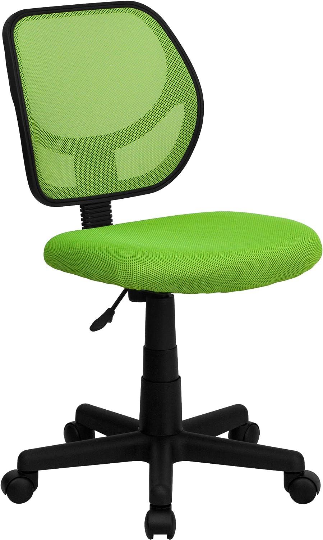 Low Back Green Mesh Swivel Task Office Chair, BIFMA Certified
