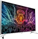 Philips 43PUS6501/12 109,2 cm (43 Zoll) Ultraflacher Android 4K-Fernseher mit 2-seitigem Ambilight und PixelPrecise Ultra HD hellsilber