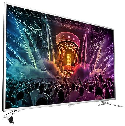 Philips 43PUS6501/12 109,2 cm (43 Zoll) Ultraflacher Android 4K-Fernseher mit 2-seitigem Ambilight und PixelPrecise Ultra HD