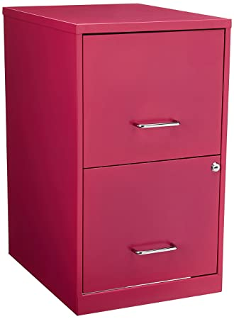 Hirsh  Drawer File Cabinet In Pink