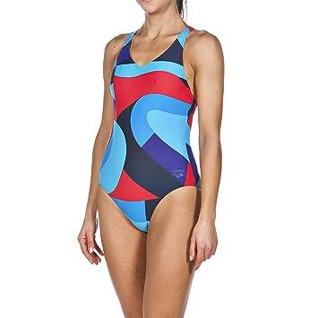 Arena Maillot de bain sportif femme Muralist FR:38 Navy/Danube Blue