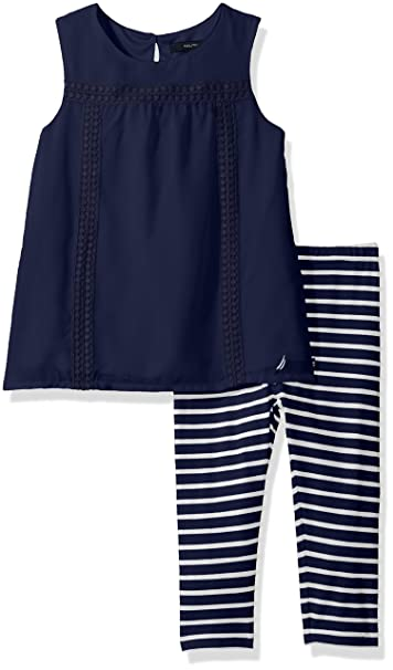 1d8795e88e1f6 Image Unavailable. Image not available for. Color: Nautica Girls' Toddler  Two Piece Legging Sets ...