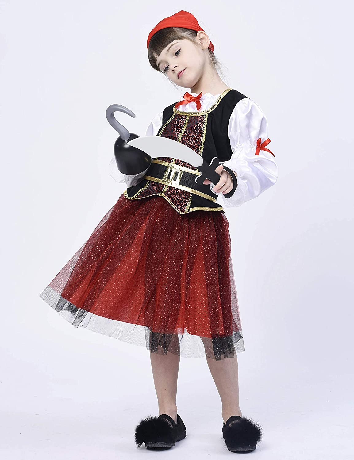 Buccaneer Fancy Dress Outfit IKALI Pirate Costume Role Play Set