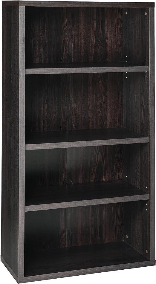 ClosetMaid Wide 4-Shelf Ladder Bookcase Black Walnut