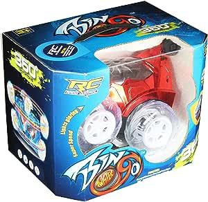 لعبة سيارة تويستر بمؤثرات ضوئية وصوتية من بينجو- احمر