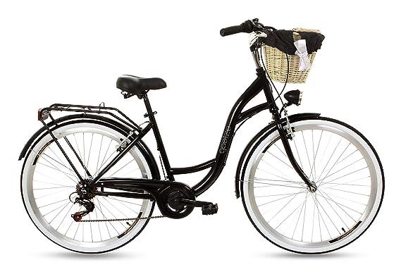 Goetze RGO052806-800413 Mood 28 B6 Zoll Damen Citybike Stadtrad Damenfahrrad Damenrad Hollandrad Retro-Design 6-Gang LED-Bele