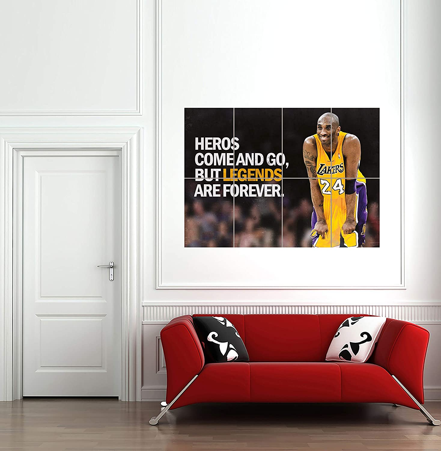 HEROES NBA BASKETBALL KOBE BRYANT LOS ANGELES LAKERS GIANT PRINT AFICHE CARTEL IMPRIMIR CARTELLO POSTER OZ254: Amazon.es: Hogar