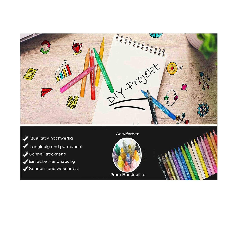 6 Stifte Pastell-Farben Set Acrylstifte Marker ANGEBOT Farben STA
