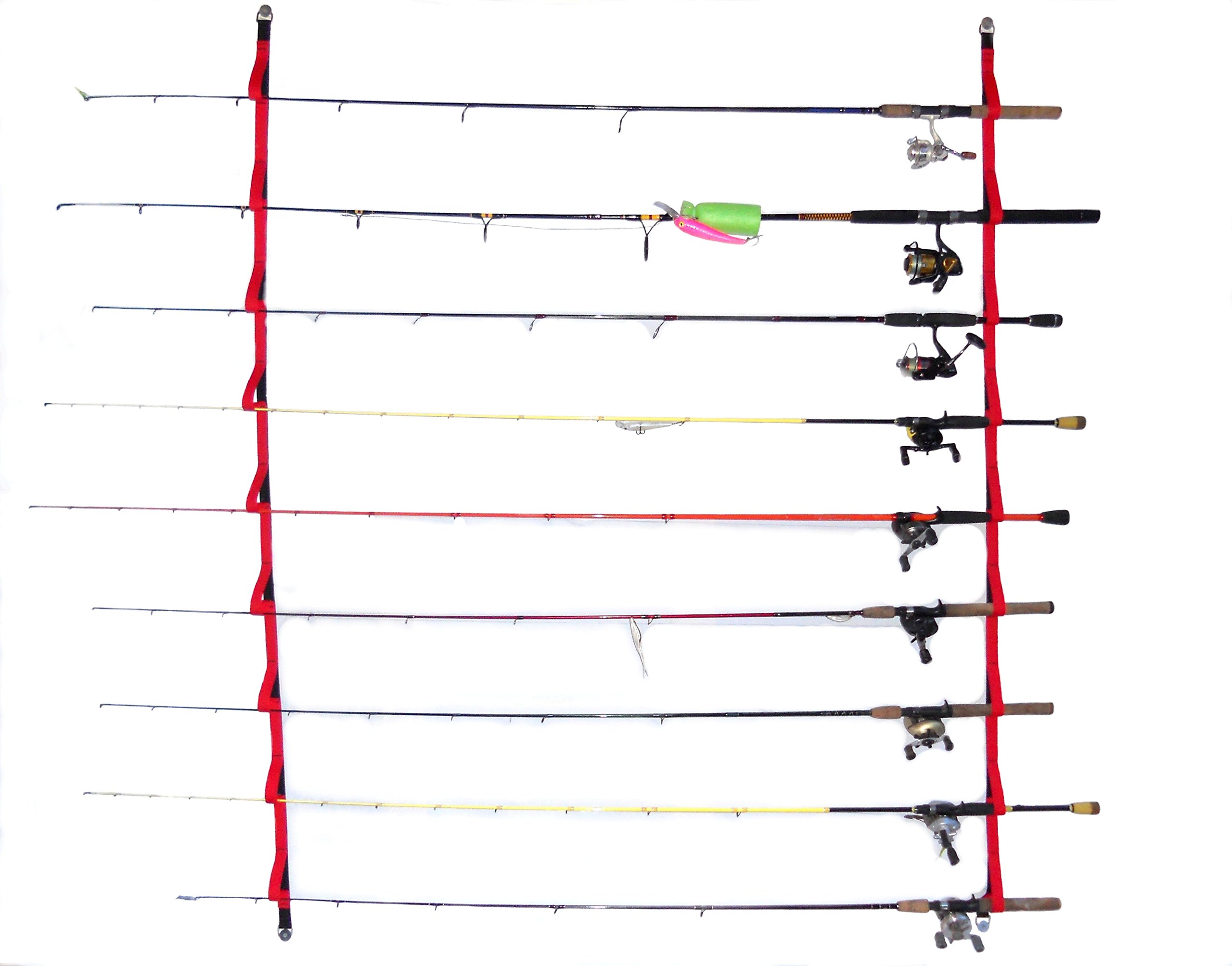 Campingandkayaking Overhead or Wall Rod Storage System. Two Sizes to Choose From. 4ft Has 6 Rod Positions, 6 Ft Has 9 Rod Positions. (6 ft - 9 rod)
