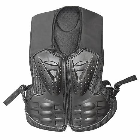 a0708e6fb06 Amazon.com  ZXTDR Kids Motorcycle Body Armor Protective Vest Children  Motocross Dirt Bike Riding Protector Safety Gear Guard Black  Automotive