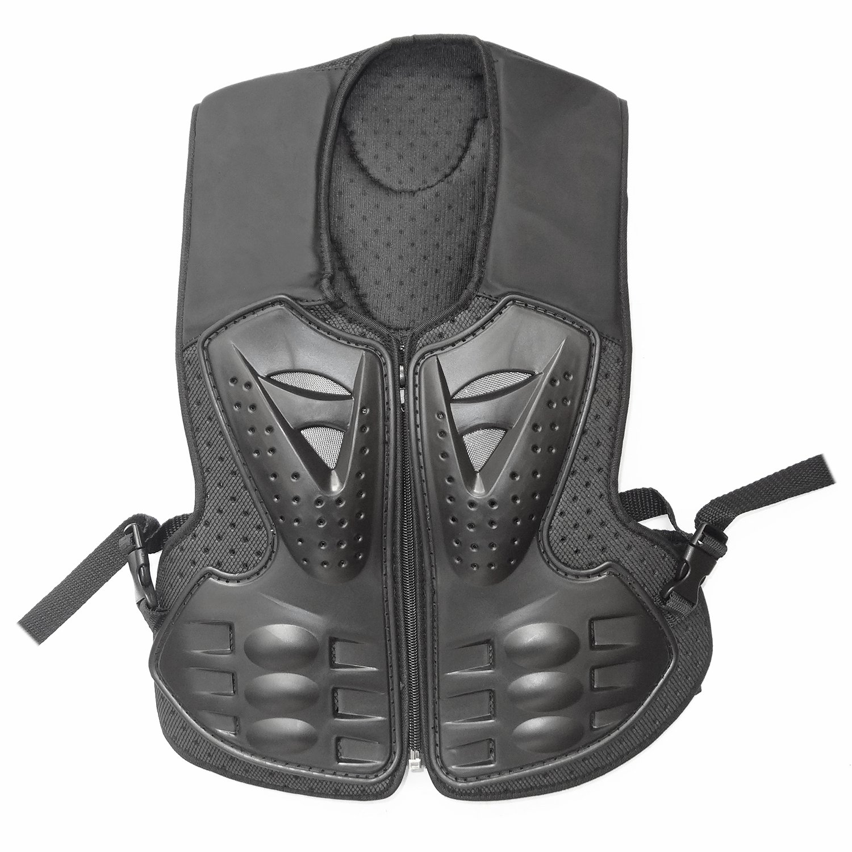 ZXTDR Kids Motorcycle Body Armor Protective Vest Children Motocross Dirt Bike Riding Protector Safety Gear Guard Black