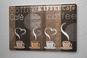 Blechschilder Küche blechschild kaffee cafe bar kaffe tassen wand deko schild 20x30 cm