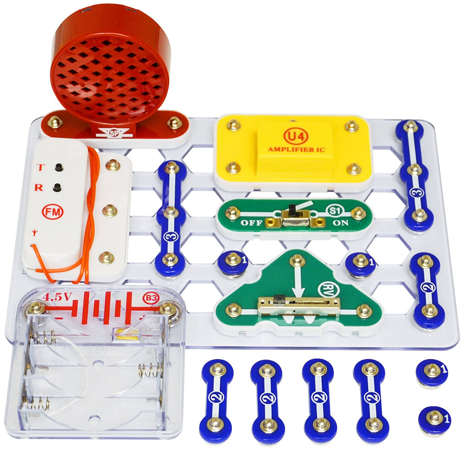 Snap Circuits Fm Radio Kit Elenco Electronics Inc Scp 02 8d 7hbe Qzbh Electronic Set From The Manufacturer Elencos Makes Learning
