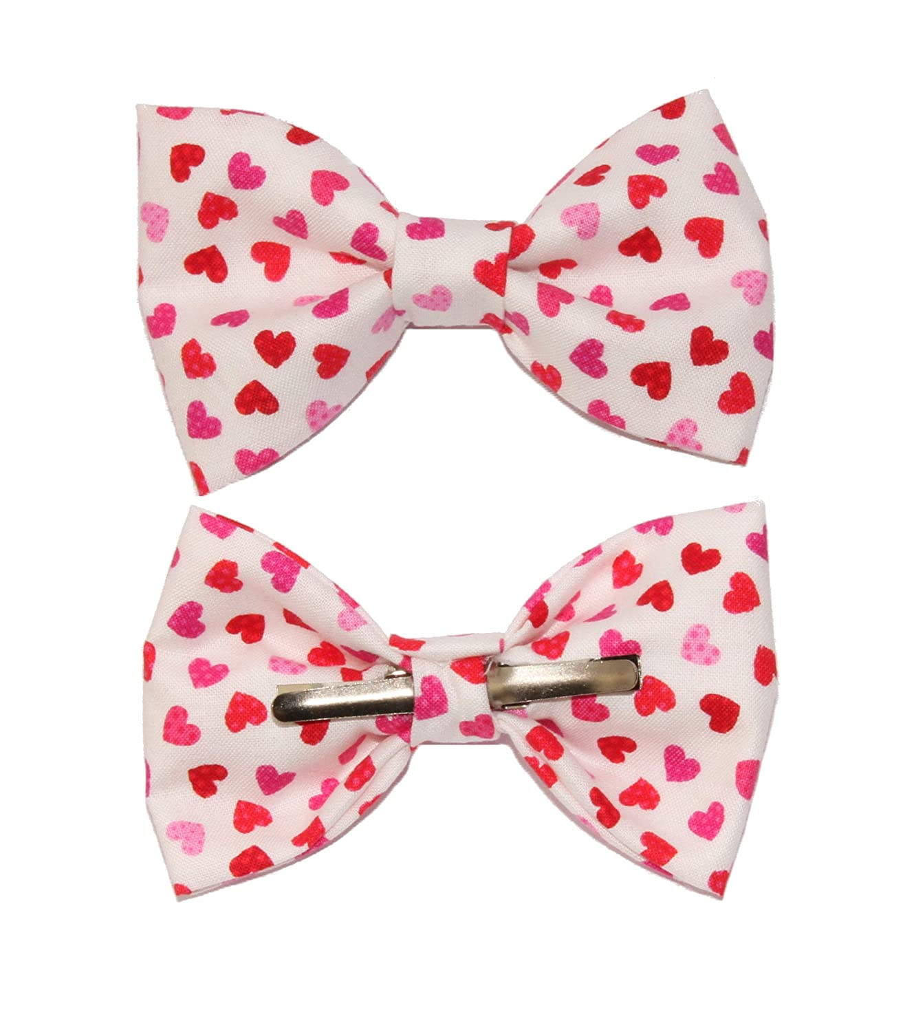 Toddler Boy 4T 5T Red Small Hearts Clip On Cotton Bow Tie