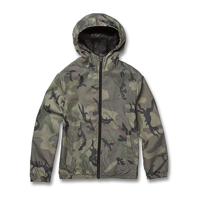 cd8b5dea78840 Volcom Big Boy's Ermont Hooded Windbreaker Jacket, Camouflage, Medium:  Amazon.co.uk: Clothing