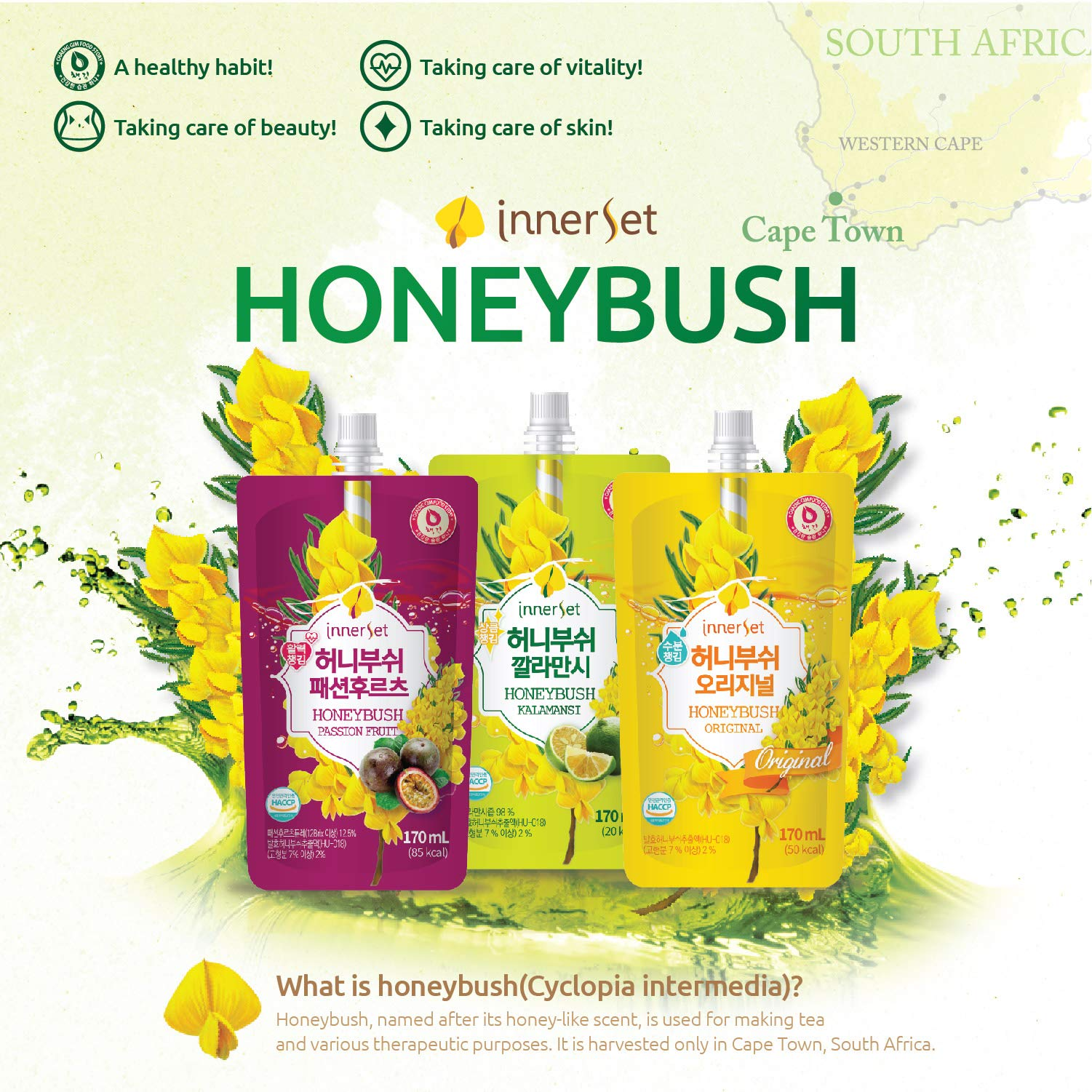 InnerSet Honeybush Pumpkin Nutricosmetic Beauty Drink - 100 ml x 72 pouches - Fermented Extract, Skincare Patented Formulation/Made in Korea/Ships from US California by InnerSet (Image #8)