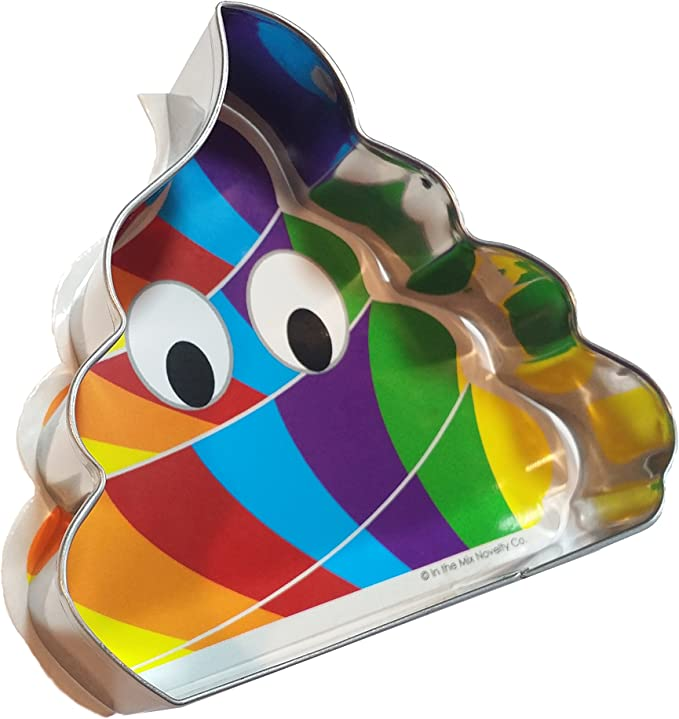 Unicorn Poop Cookie Cutter - Create Your Own Magical Rainbow Unicorn Colored Poo Shaped Cookies with Your Favorite Recipes (3 inches, Stainless Steel)