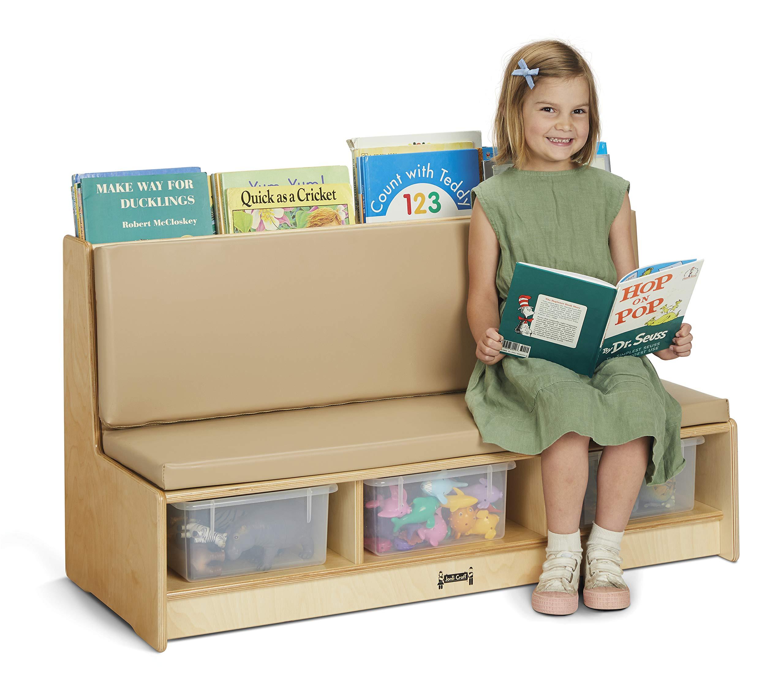 Jonti-Craft 37490JC Literacy Couch - Wheat by Jonti-Craft