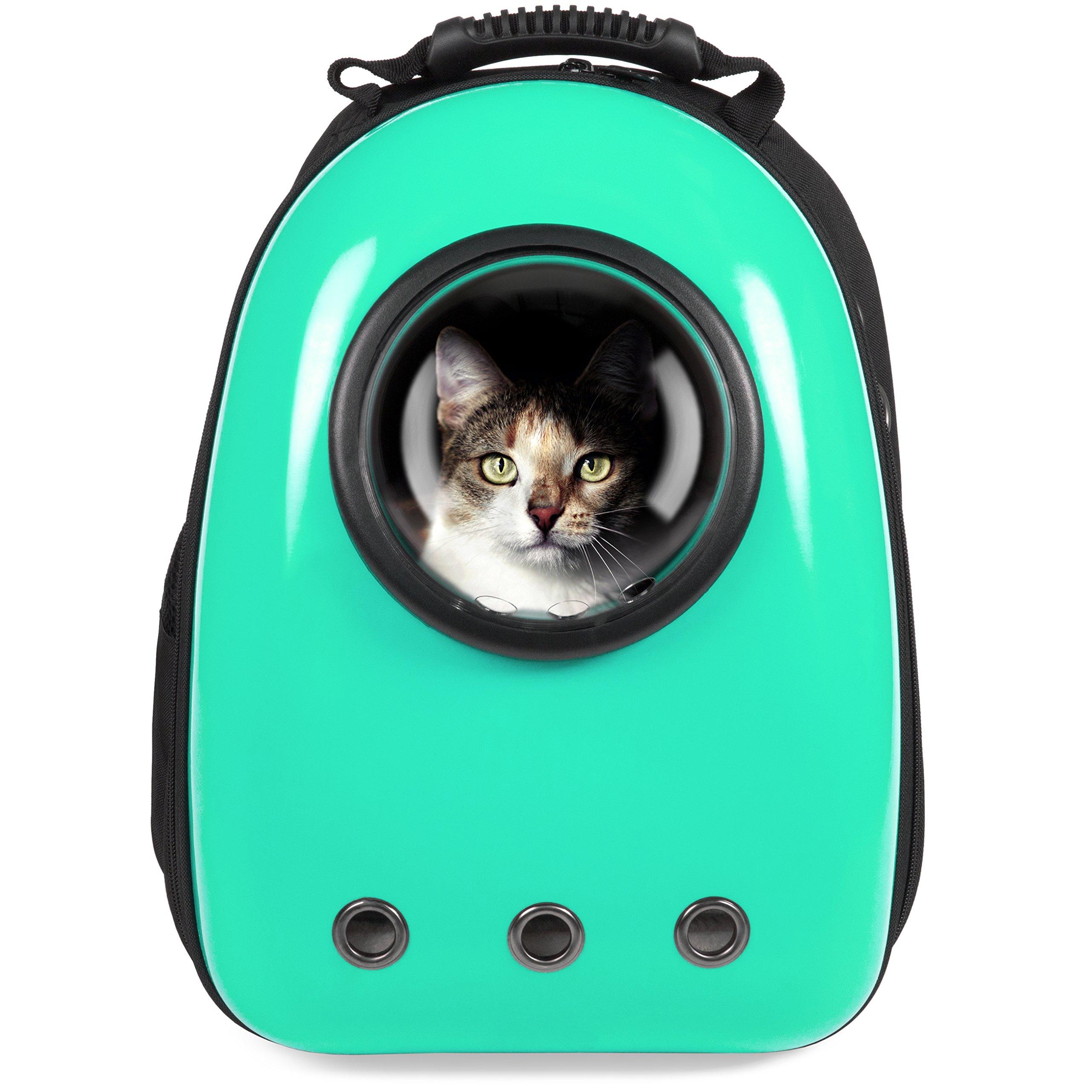 Best Choice Products Traveler Bubble Window Backpack Pet Carrier for Cats and Dogs - Teal