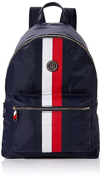 Damenrucksack rot blau Nylon Dressy Backpack Tommy Hilfiger