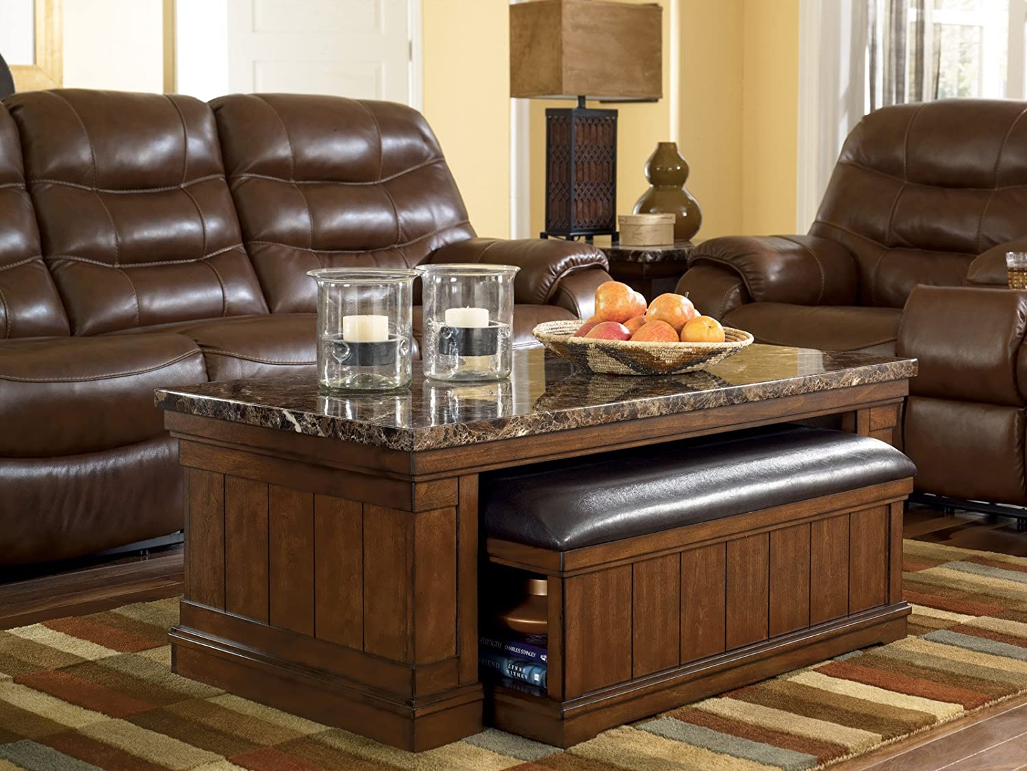 Industrial Fan Coffee Table Amazoncom Signature Design By Ashley T838 1 Merihill Collection