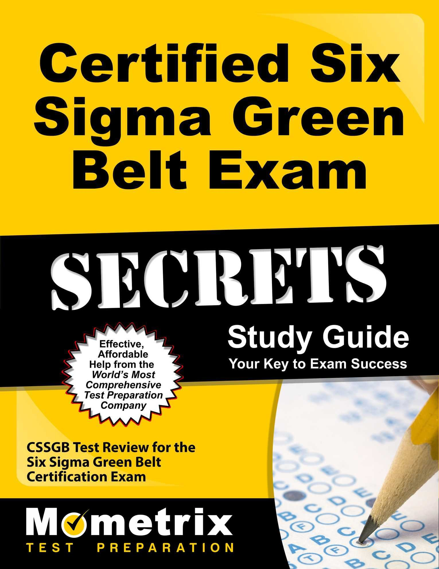 Buy Certified Six Sigma Green Belt Exam Secrets Cssgb Test Review