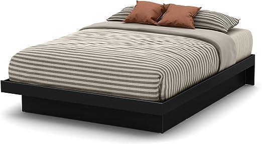 Full Size Bed Frame Basics Platform Modern Bedroom Furniture Black With Moldings