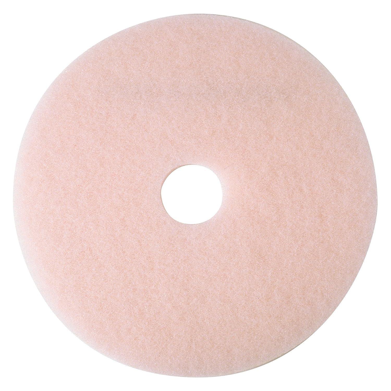 3M 3600 Pink 27-Inch by 1//4-Inch Eraser Burnish Pad 5 per Case