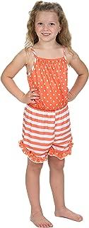 product image for Laura Dare Girls Tangerine Dreams Spaghetti Strap Romper (2t-14)