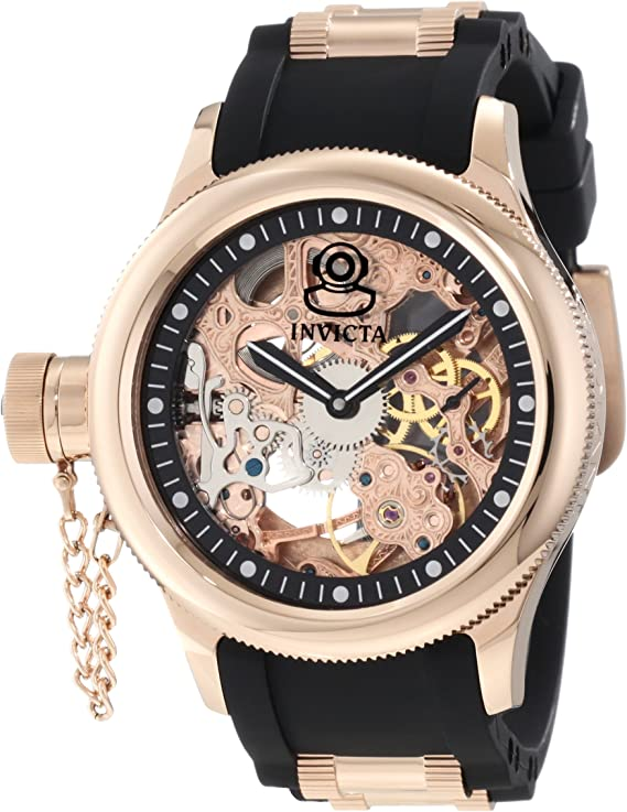 Invicta Men's Russian Diver Rose Gold Stainless Steel and Black  Polyurethane Mechanical Watch, Rose Gold/Black (Model: 1090) | Lazada PH
