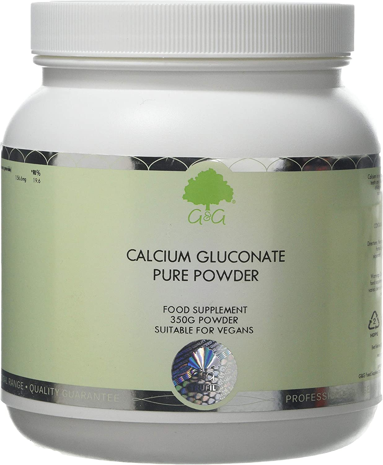 G&G Vitamins Calcium Gluconate Powder