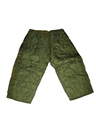 Amazon.com : Military Field Pant Liner for Cold Weather Trousers ... : quilted trousers - Adamdwight.com