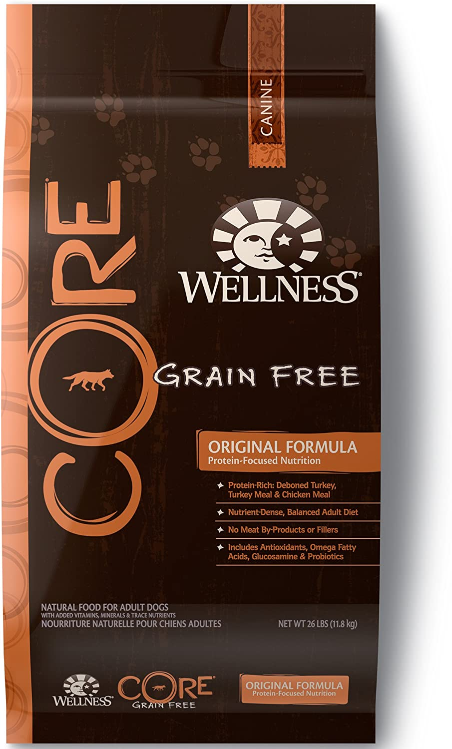 Wellness Core Natural Grain Free Dry Dog Food Original Turkey & Chicken