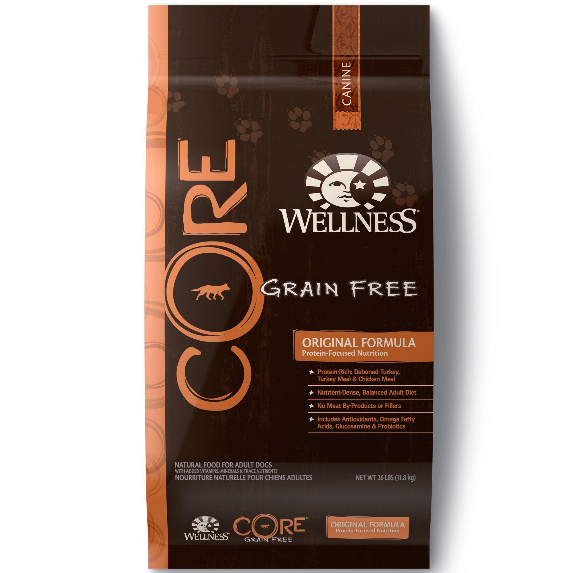 Wellness Core Natural Grain Free Dry Dog Food, Original Turkey & Chicken, 26-Pound Bag by WELLNESS CORE